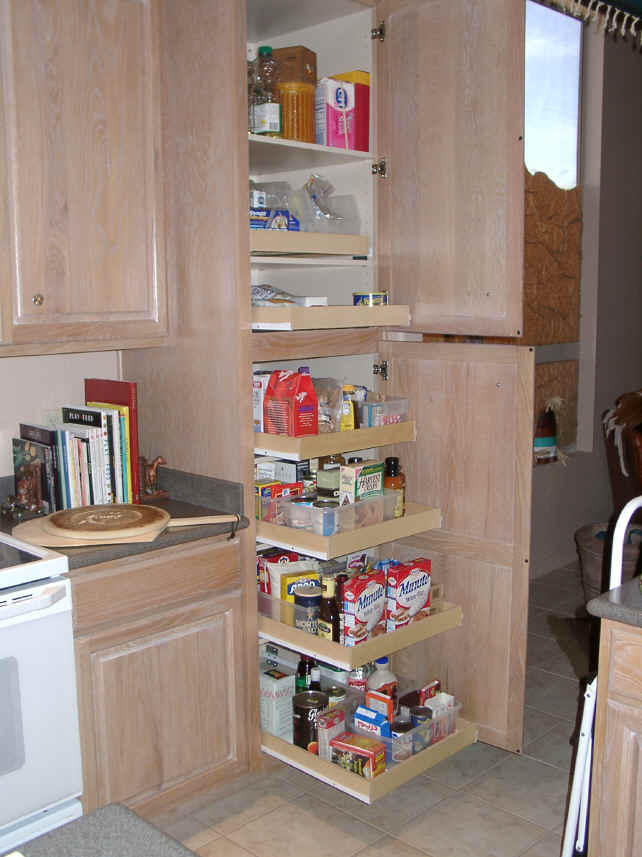 click to enlarge kitchen pantry cabinet slide out shelves. beautiful ideas. Home Design Ideas