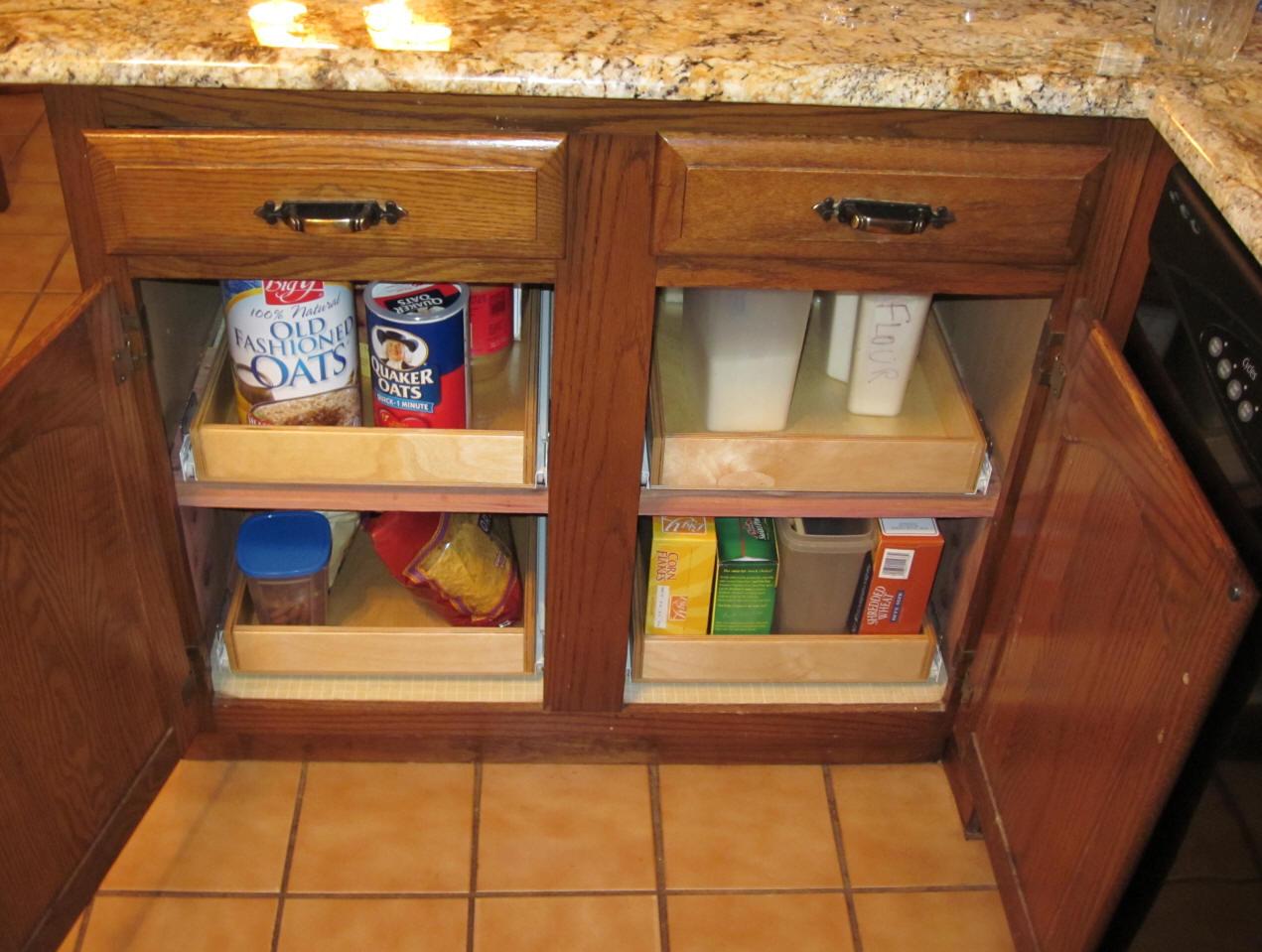 good Adjustable Shelves For Kitchen Cabinets #10: Shelves That Slide