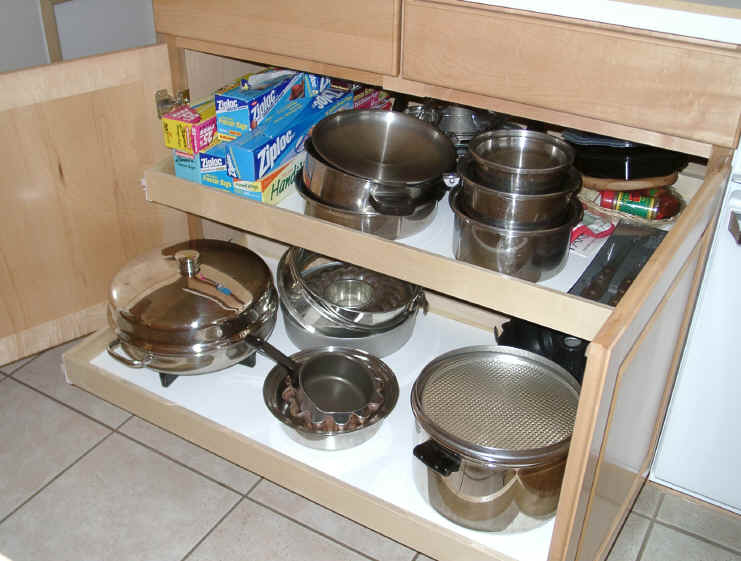shelf click to enlarge slide outs roll outs kitchen cabinet organization. beautiful ideas. Home Design Ideas