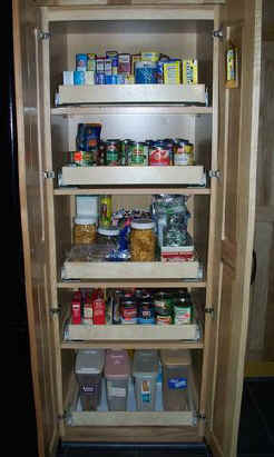 Pull out shelf pantry