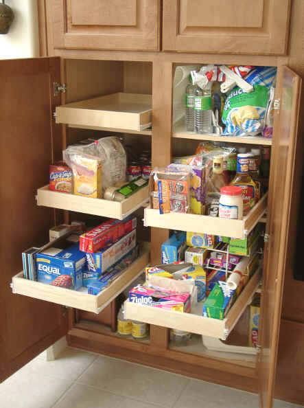 Pantry cabinet tall pull out pantry cabinet with kitchen - Roll out shelving for pantry ...