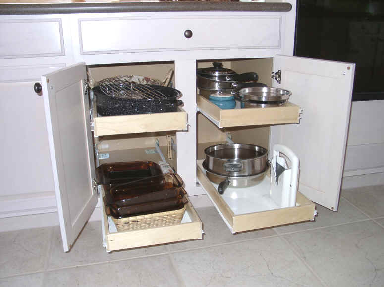Click To Enlarge Sliding Shelves Make Reaching Even The Back Of You Cabinet  Easy Stop Bending ...