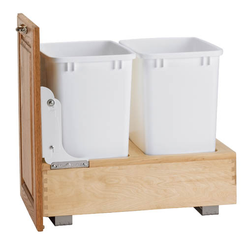 22 Birch Pull Out Shelf Kit One Shelf 1 4 Bottom: Shelves That Slide 70 Quart Wood Classic Pull-Out Waste