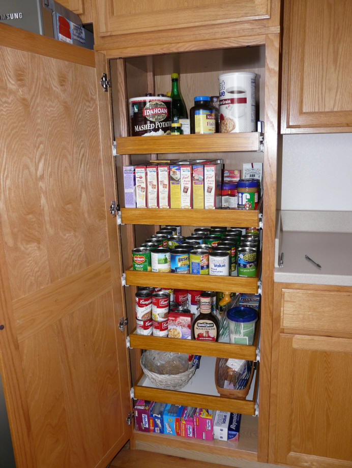 & Kitchen pantry cabinet pull out shelf storage sliding shelves