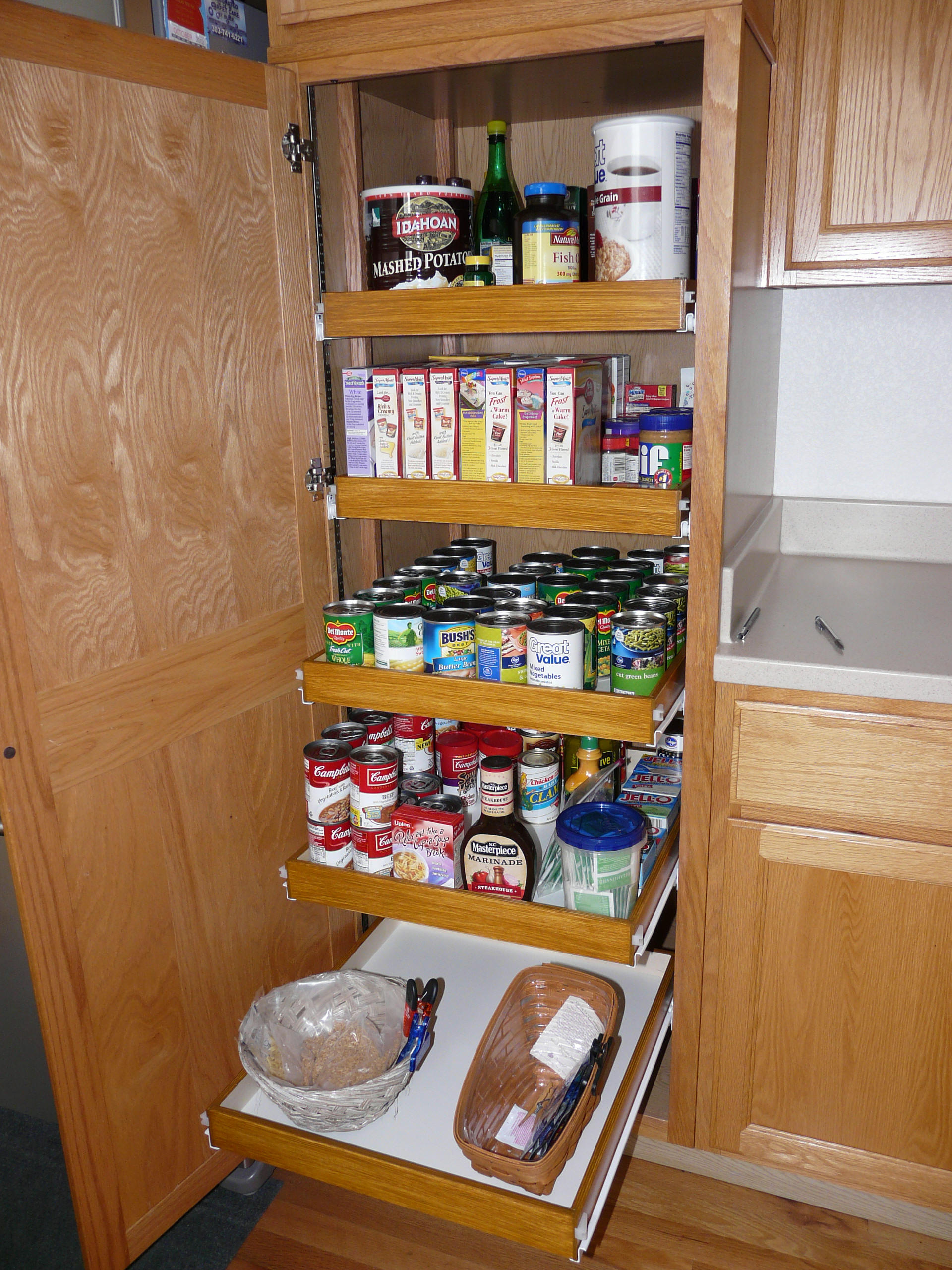 pantry cabinet pull out shelf storage sliding shelves