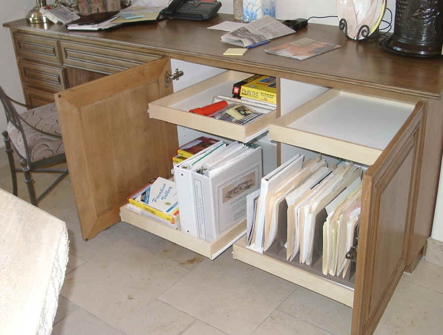 Home Office Storage File Drawer Computer Shelf Pull Out Shelves That Slide Keyboard Tray Small Space