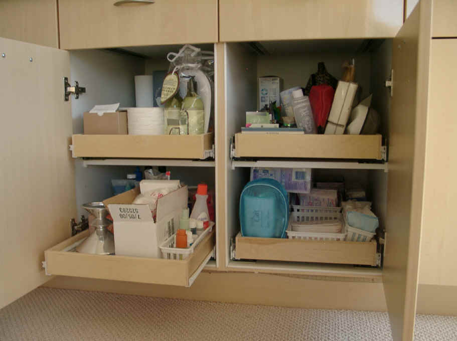 Beautiful Pull Out Bathroom Cabinet organizer