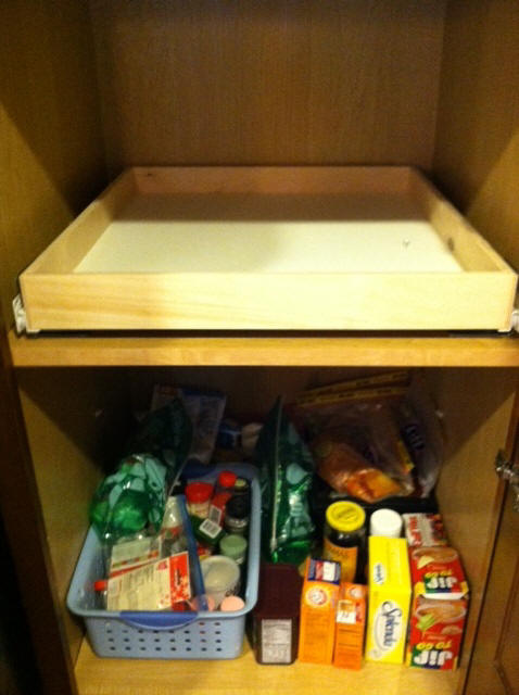 Custom pull out shelving soultions DIY - do it yourself