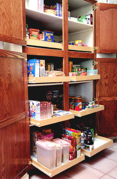 Etonnant ... Click To Enlarge Picture Of Sliding Shelves In Kitchen Pantry Cabinet  Pantry Storage Made Easy Do ...