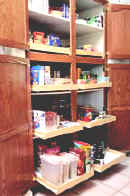 kitchen shelves pantry designs pull out shelf from shelves that slide make your life easier access to back of pantry cabinets