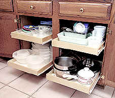 Kitchen Shelves Pantry Pull Out Sliding Shelf Cabinet Roll Storage Bathroom Pullout