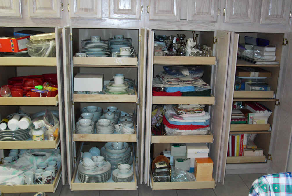 Kitchen Pantry Cabinet Pull Out Shelf Storage Sliding Shelves - Sliding shelves for kitchen cabinets