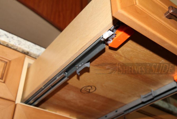 Shelf To Fit The Slide Hardware And The Back Needs To Be Cut Out They Are Really Best Suited For Regular Cabinet Drawers That Have A Face And A Handle