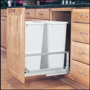 100 Quart Trash And Recycle Center 15 5 8 Quot Wide Shelves