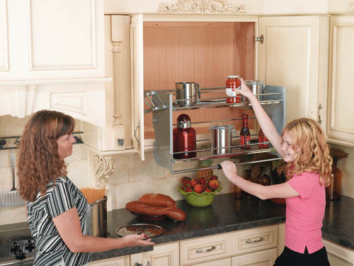 Wall Cabinet Pull-Down Shelving System & Wall Cabinet Pull-Down Shelving System: Shelves That Slide