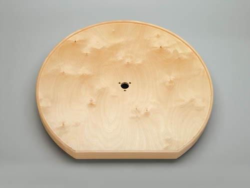 D Shape Ld Natural Wood Tray W Aluminum Bearing Corner