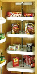 Pantry Cabinet D Shaped Five Tiered Lazy Susan Polymer