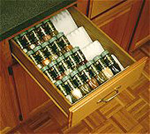 Spice Drawer Insert Cut To Fit For Your Drawer Shelves